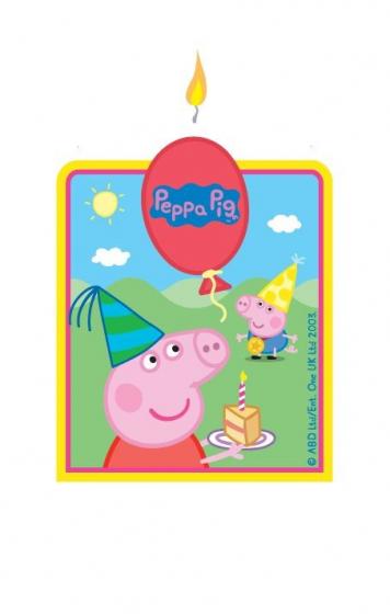 Peppa Pig Flat Candle (6cm x 7cm)