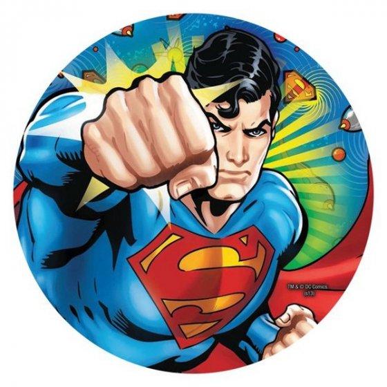 Superman 23cm Round Plates - 8 Pack 23cm Diameter