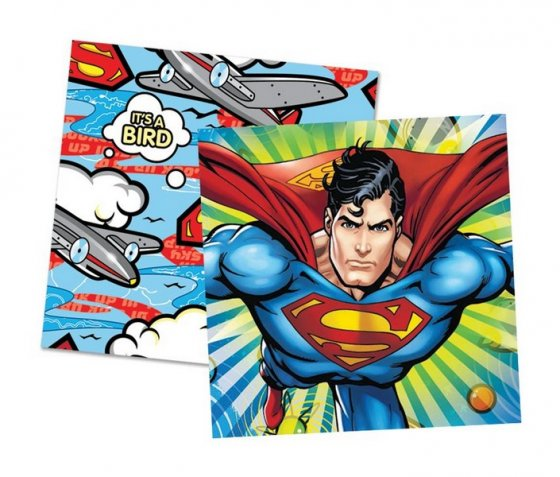 Superman Lunch Napkins 16 Pack 33cm x 33cm