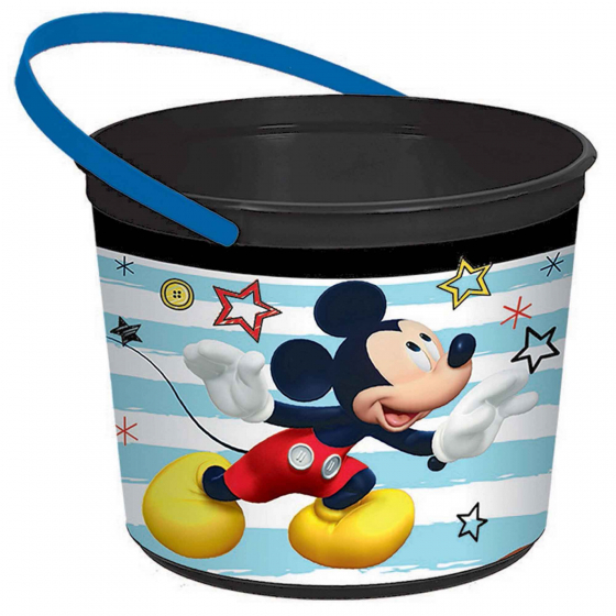 Mickey on the Go Plastic Favor Container 12cm x 16cm