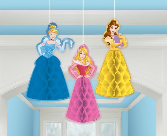 Disney Princess Dream Big Honeycomb Decorations Tissue & Printed Paper contains: 2 Honeycombs 13'(33cm) 14'(35.5cm)