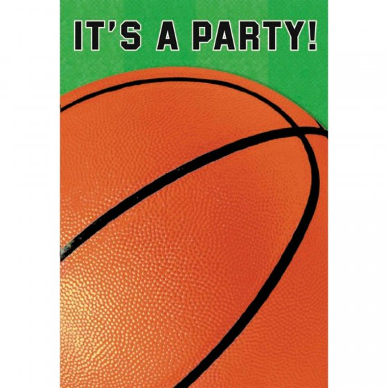 Basketball Fan Folded Invitations 6' (15cm)