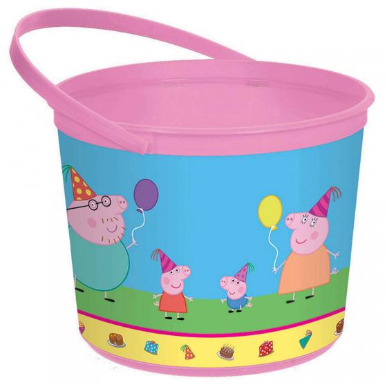 Peppa Pig Favor Container - Plastic 12cm x 16cm