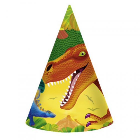 Prehistoric Party Paper Cone Hats