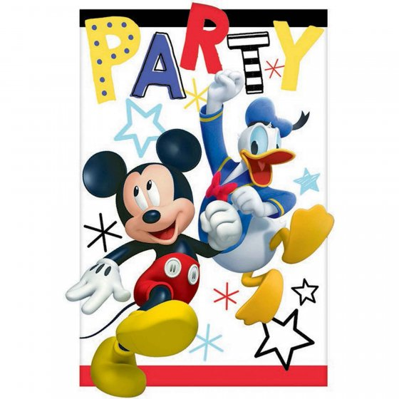 Mickey on the Go Postcard Invitations 4 1/4' (11cm)