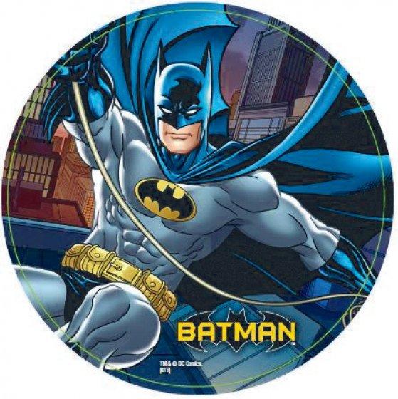 Batman 23cm Plates - 8 Pack 23cm Diameter