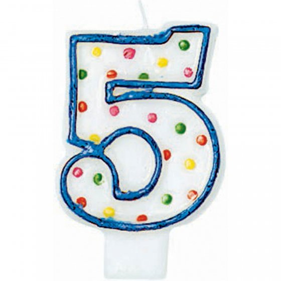 #5 Polka Dots Flat Candle