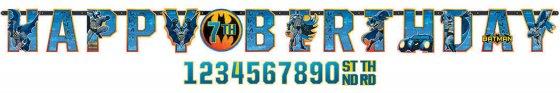 Batman Jumbo Add-An-Age Banner 10 1/2' x 10' (3.2m x 25cm)
