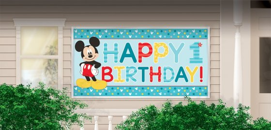 Mickey Fun To Be One Horizontal Giant Sign Banner 65' x 33 1/2' (1.6m x 85cm)