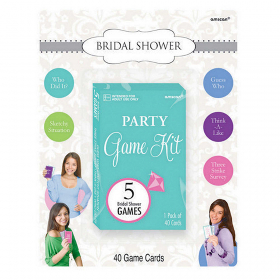 Bridal Shower Party Game Kit Contains 40 Cards 3'(7.6cm) x 5'(12.7cm)