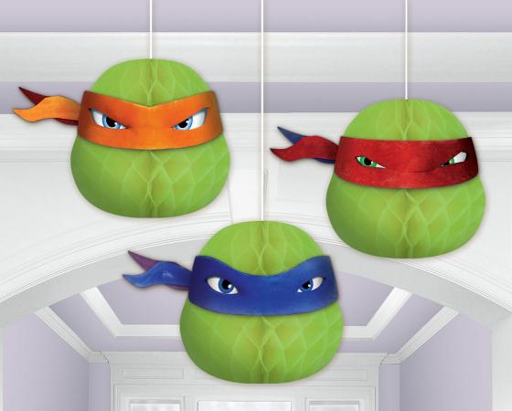 Teenage Mutant Ninja Turtles Decorations Honeycomb Decorations 7' (17.7cm)