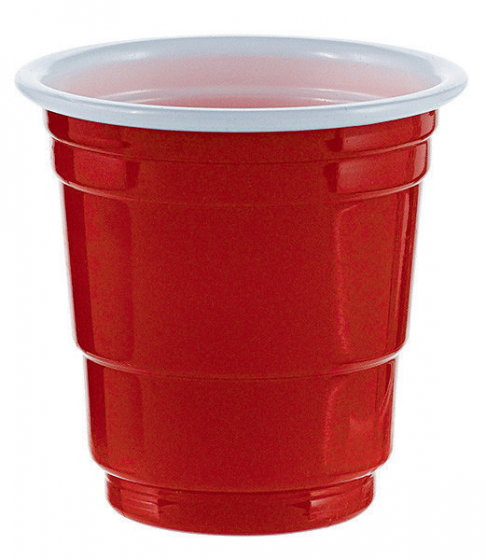 Shot Glasses Red - Plastic 2oz (59ml)