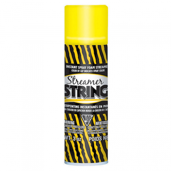 5 OZ (85g) (Cannot Air Freight - Road or Sea Freight Only) DIRECTIONS FOR USE: Shake well before using. For best results store at room temperature (20?C) for 24 hours before using. To avoid clogging turn can upside down and spray to clear nozzle. Should clogging occur remove nozzle and clean with pin. To remove string let dry & lift off surface. CAUTION: PRESSURISED DISPENSER. This is a novelty product. Should not be used by children without parental supervision.