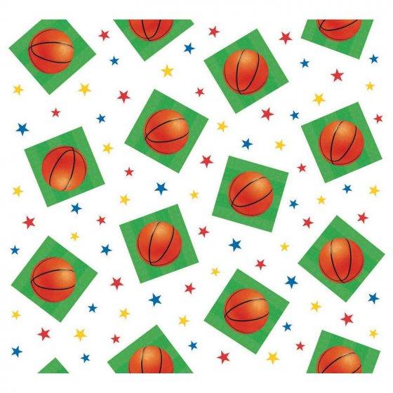 Basketball Fan Tablecover Plastic 54' x 102' (1.37m x 2.59m)