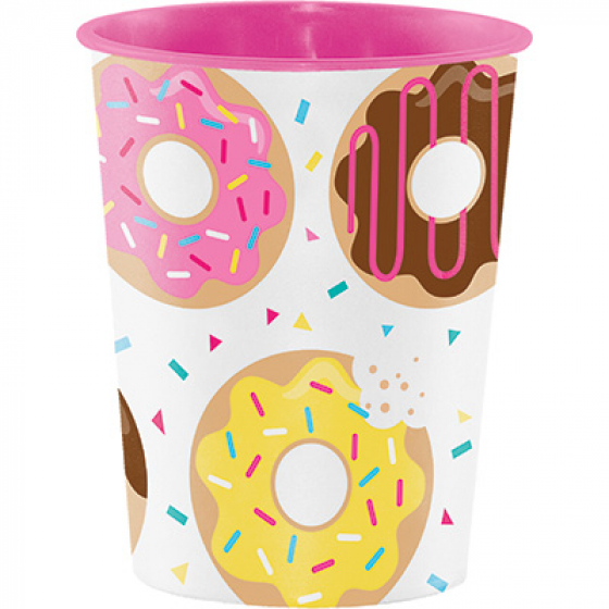 Donut Time Keepsake Souvenir Favor Cup Plastic 473ml