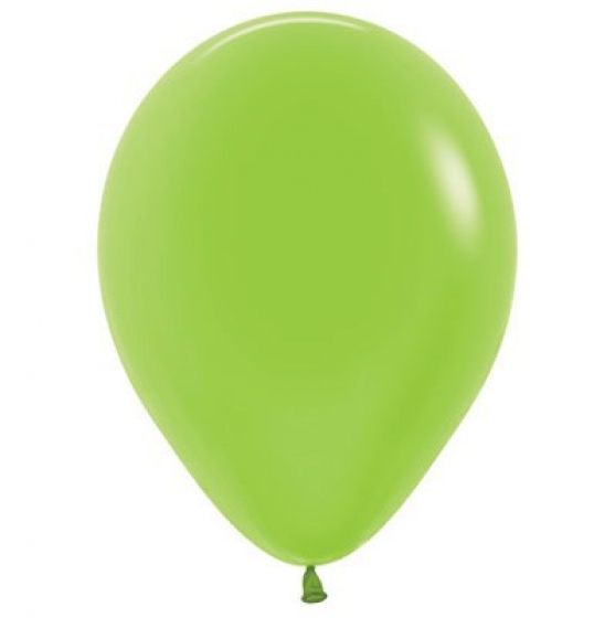 30cm Neon Green Latex Balloons 100PK