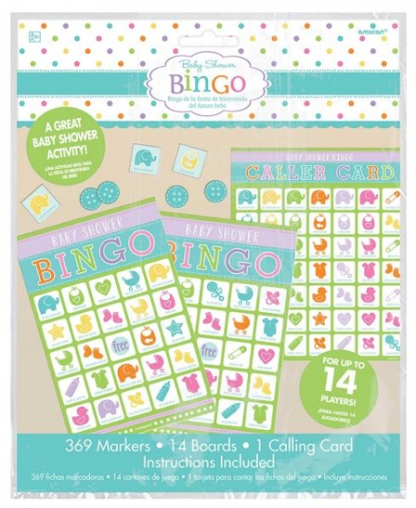 Baby Shower Game Value Bingo Contains: 1 Caller Card 14 Player Cards 369 Markers