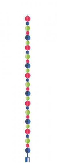 Balloon Tail 3D Dots - Primary Paper & Weight 6' (1.8m)