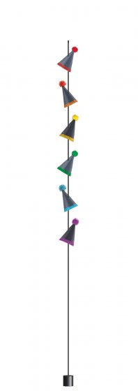 Balloon Tail Party Hats - Black Paper w/Glitter & Weight 6' (1.8m)
