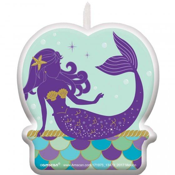 Mermaid Wishes Birthday Candle 2 3/5' (7cm)