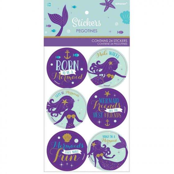 Mermaid Wishes Stickers (5cm) diameter 2'(5cm) dia.