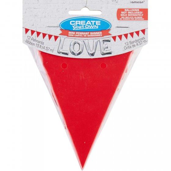 Contains 1 x 3.8m Ribbon & 10cm x 12cm Pennants