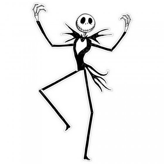 The Nightmare Before Christmas Cutout Jointed Cardboard Cutout 124cm
