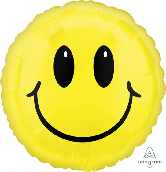Jumbo Shape Smiley Face 71cm Self Sealing Foil Balloon