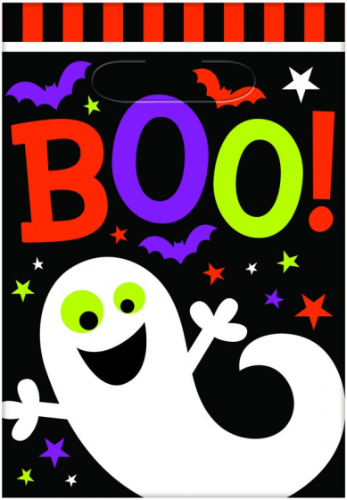 Boo Loot Bags & Cards Contains: 6 Plastic Bags 23cm x 16cm & 6 Double Sided Card Instruction Inserts 16cm x 11cm - Makes a fun Game