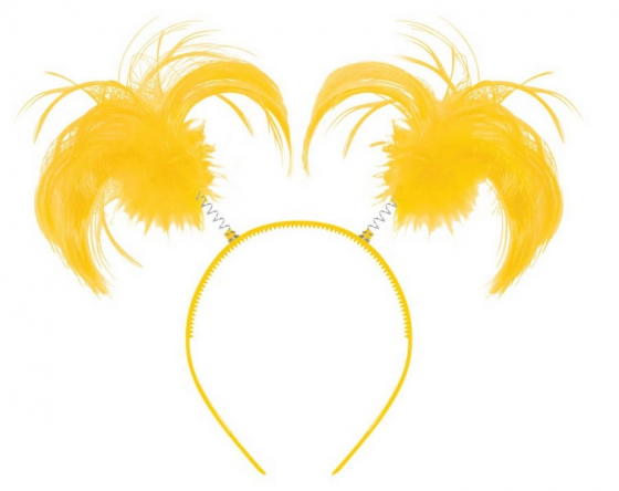 Headbopper Ponytail - Yellow Metal Plastic & Synthetic Fiber. 8' x 5' (20.3cm x 12.7cm). Intended for Adult novelty use only.