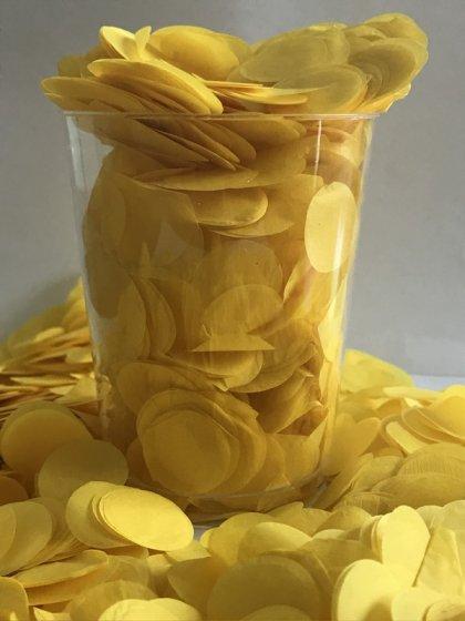 Confetti Yellow Tissue Circles 2cm Round 200g Colour Fast Paper
