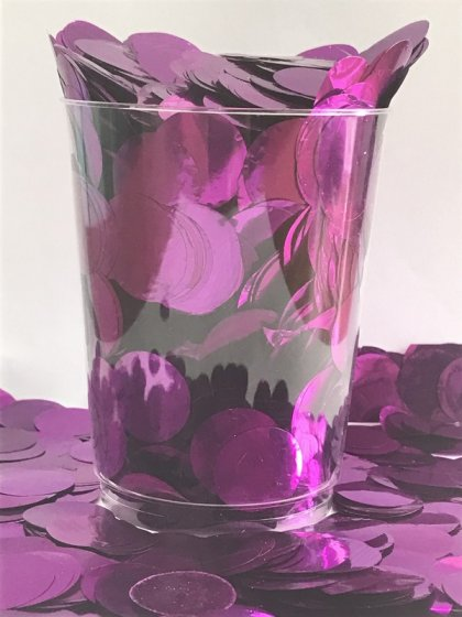Confetti Purple Metallic Circles 2cm Round 200g Foil