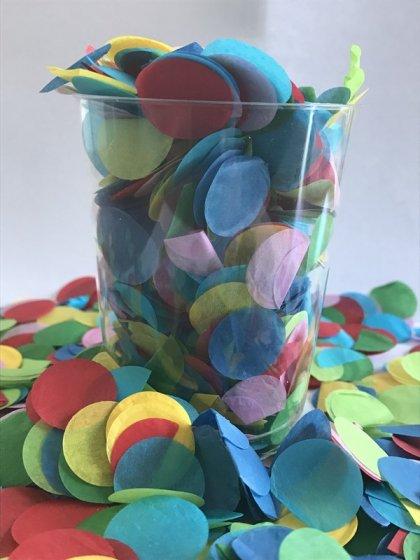 Confetti Assorted Tissue Circles 2cm Round 200g Colour Fast Paper