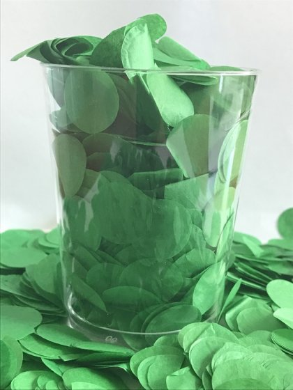 Confetti Green Tissue Circles 2cm Round 200g Colour Fast Paper