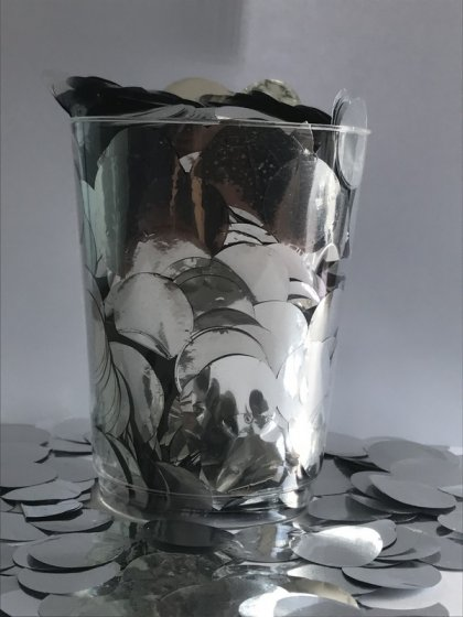 Confetti Silver Metallic Circles 2cm Round 200g Foil