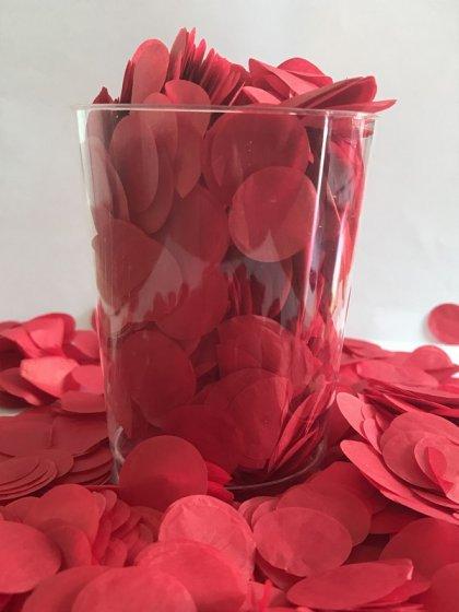 Confetti Red Tissue Circles 2cm Round 200g Colour Fast Paper