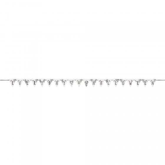 Nightmare Before Christmas Glittered Pennant Banner Contains: 1 x Ribbon 4.4m & 20 x Canvas Pennants 17cm x 15cm