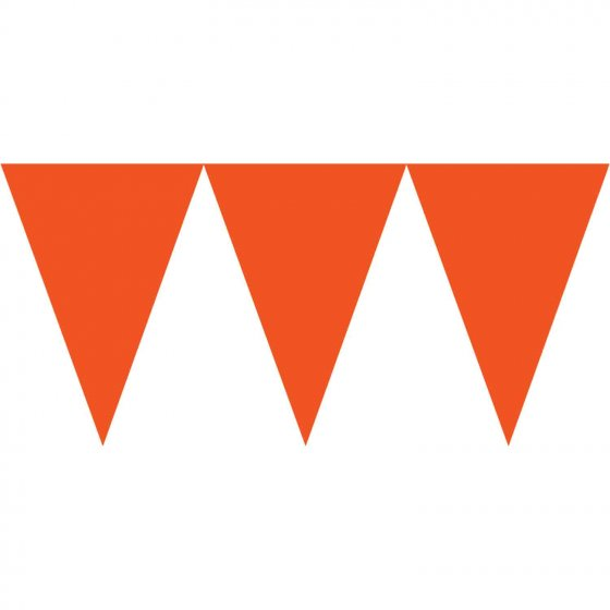 Paper Pennant Banner - Orange Peel Contains 1 x 4.5m Ribbon & 24 x Pennants 18cm x 15cm