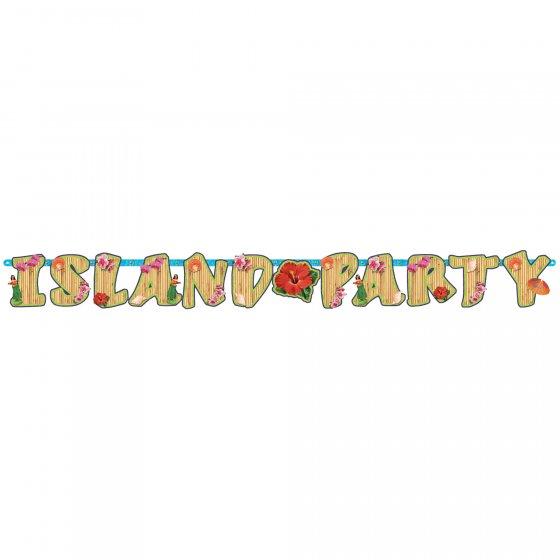 Summer Luau Island Party Cardboard Letter Banner 18cm x 1.98m