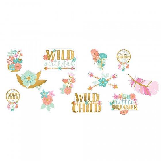 Boho Birthday Girl Cutouts Value Pack