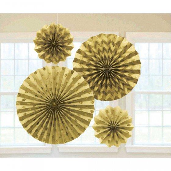Contains 2 x 20cm Fans 1 x 30cm Fan & 1 x 40cm Fan