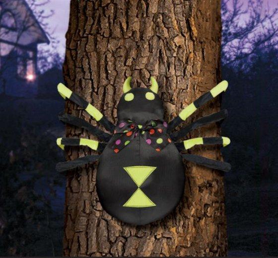 Glow in the Dark Hanging Spider Decoration 137cm x 40cm
