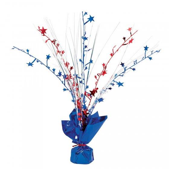 Patriotic Foil Spray Centrepiece 30cm