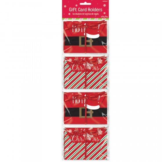 Christmas Holiday Gift Card Envelope Holders Cardboard 9cm
