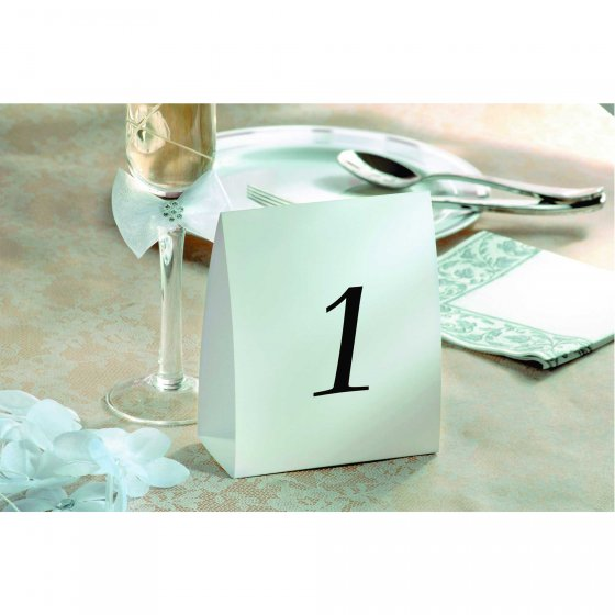 Place Cards Tent Table Numbers 1 - 12 Cardboard. 5in x 4in (12cm x 10cm)