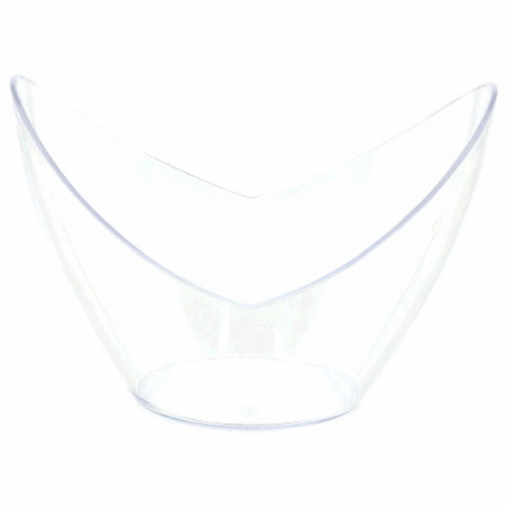 Mini Catering Oval Dishes Clear Plastic 74ml