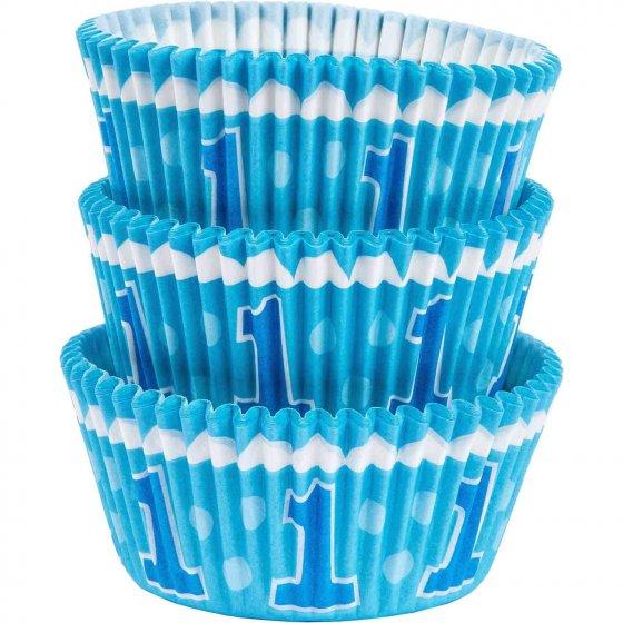 1st Birthday Blue Standard Cupcake Cases