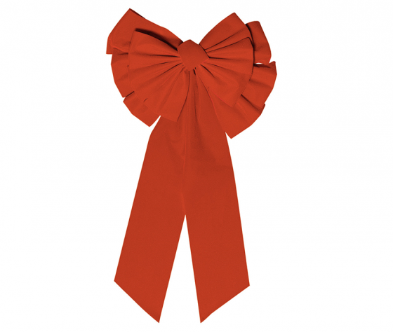 Christmas Large Gathered Red Bow