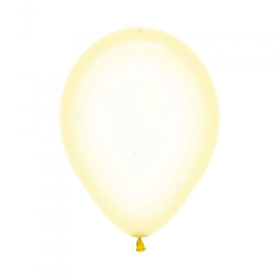 30cm Crystal Pastel Yellow 100PK