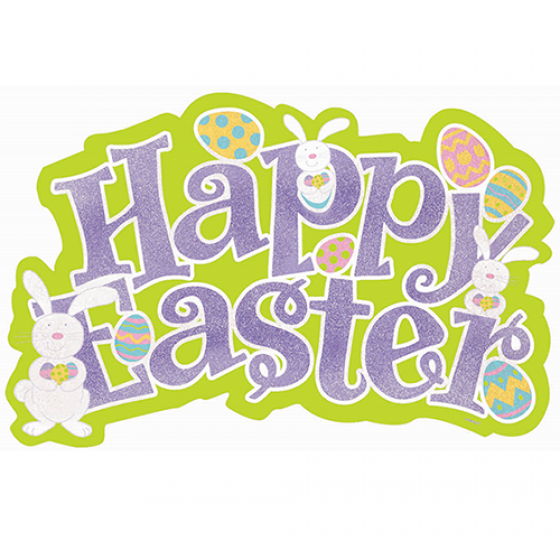 Easter Cutout Glittered Large Cardboard 45cm x 58cm